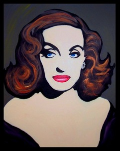 Bette Davis Pop Art Painting All About Eve 1950 Margo Channing